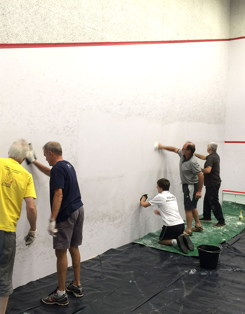 Squash Court Cleaning