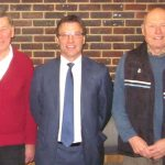 Rob Andrew and David Bowden visit East Grinstead Cricket Club